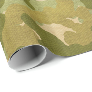 Military pattern wrapping wrapping paper