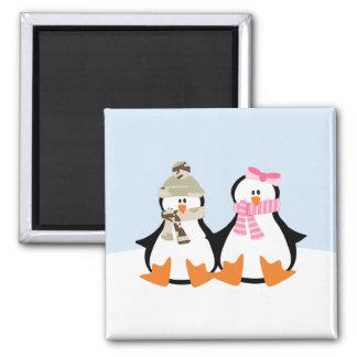 Military Penguin Couple Magnet