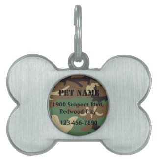 Military Pet Pet Name Tag