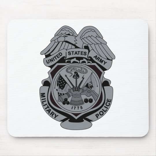 Military Police Patch Mouse Pad