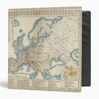 Military Political Map of Europe 3 Ring Binders