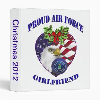 Military Proud Air Force Christmas Photo Abum Vinyl Binder