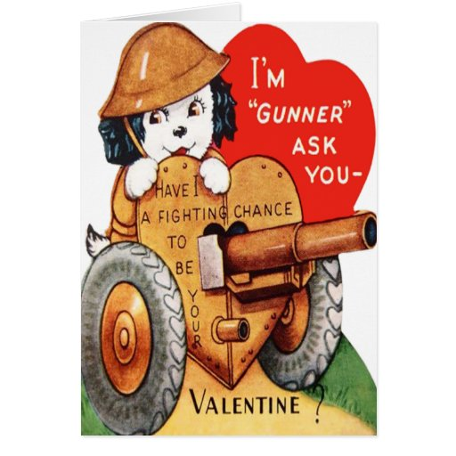 Military Pup Valentine Card