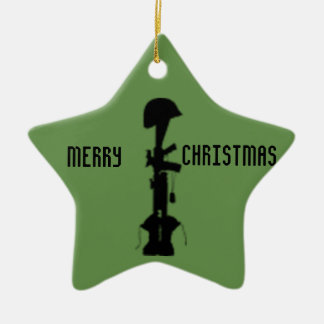 Military Remembrance Star Ceramic Ornament