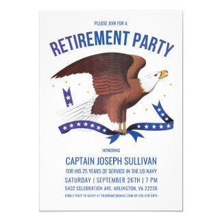 Military Retirement Invitations   Eagle