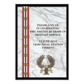 Military Retirement Mable plaque Card