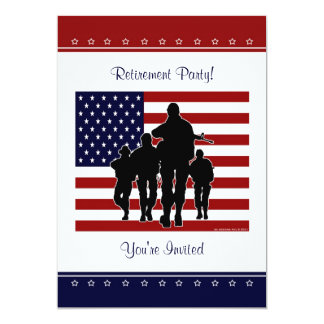Military Retirement Party Personalized Invitation
