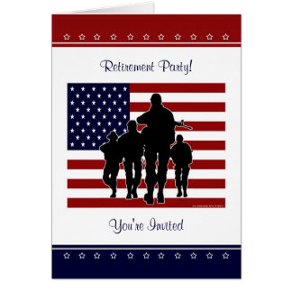 Military Retirement Party Personalized Invitation Greeting Card