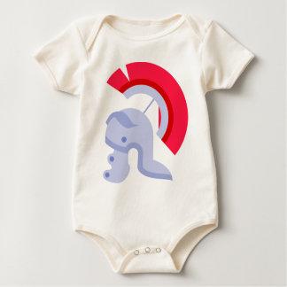 Military Roman Helmet Baby Bodysuit