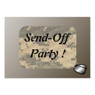 "Military Send Off Party Patriotic 5"" X 7"" Invitation Card"
