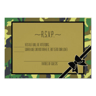 """Military Send Off Party-RSVP 3.5"""" X 5"""" Invitation Card"""