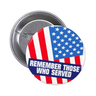 Military Service 2 Inch Round Button