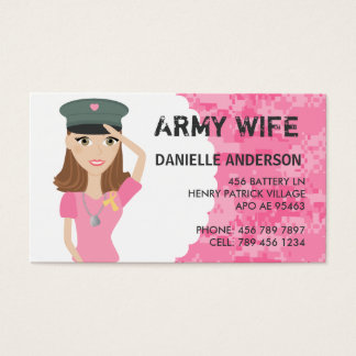 Military Spouse Calling Card