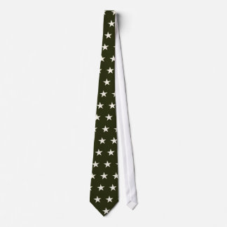 military star on green tie