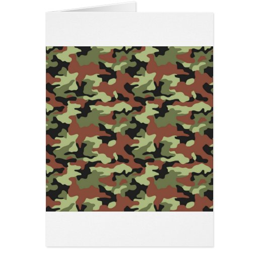 military style greeting cards