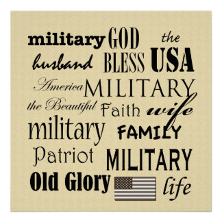 Military Subway Art Poster Print