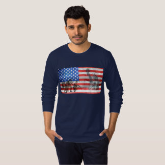 Military Support US American Flag Shirt