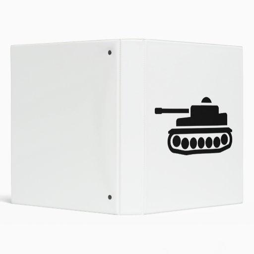 Military tank vinyl binder