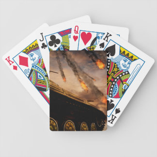 Military Tank on Battlefield Bicycle Playing Cards