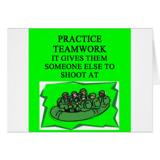 military teamwork joke card