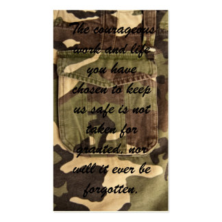 Military Thank You Cards Business Card Template