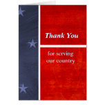 Military Thank You For Serving Our Country Custom Card