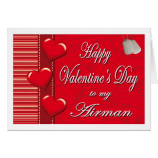 Military To My Airman Hearts Valentine Card