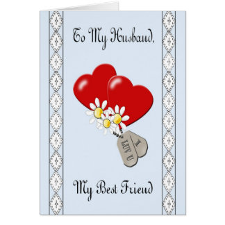 "Military ""To My Husband"" Anniversary Card"