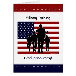 Military Training Graduation Party Custom Invite