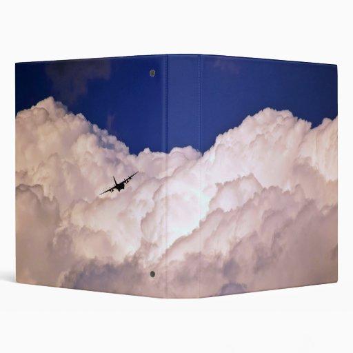 Military Transport Airplane Vinyl Binder