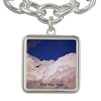 Military Transport Airplane by Shirley Taylor Charm Bracelet