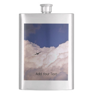 Military Transport Airplane by Shirley Taylor Hip Flask