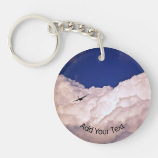 Military Transport Airplane by Shirley Taylor Keychain