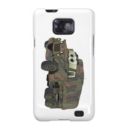 Military Troop Carrier Cartoon Samsung Galaxy SII Cases