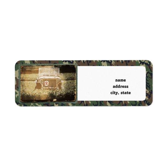 Military Vehicle Return Address Label
