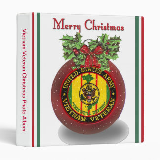 Military Vietnam Veteran Christmas Photo Album Vinyl Binder