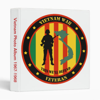 Military Vietnam War Veteran Photo Album Vinyl Binder