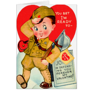 Military Vintage Valentine's Day Card