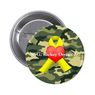 Military War Veteran Button