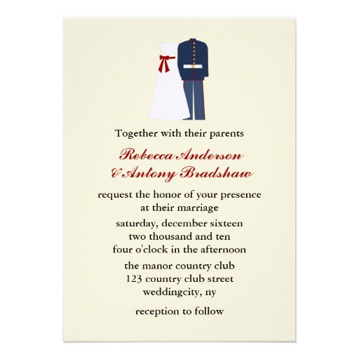 Military Wedding Invitations can inspire you to create best invitation template