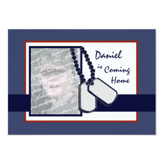 """Military Welcome Home 5"""" X 7"""" Invitation Card"""