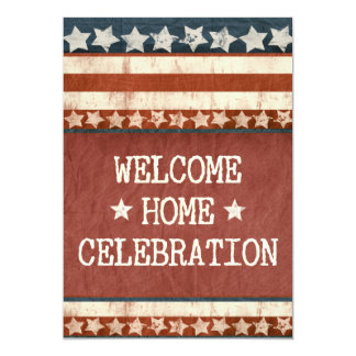 "Military Welcome Home Party Custom Photo 5"" X 7"" Invitation Card"