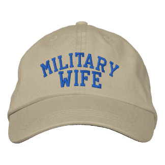 Military Wife Cap by SRF Embroidered Hat