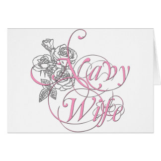 military wife rose greeting card