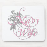 military wife rose mouse pads