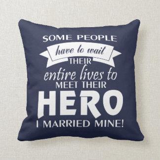 Military Wife Throw Pillow