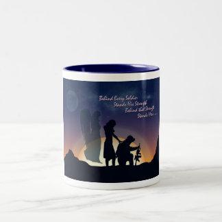 Military Wife Two-Tone Coffee Mug