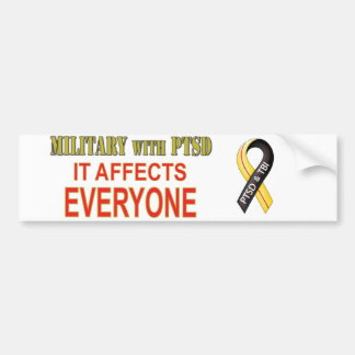 Military With PTS Bumper Sticker