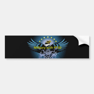Military with PTSD Eagle Bumper Sticker
