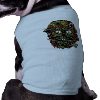 military zombie with knife in mouth pet clothes